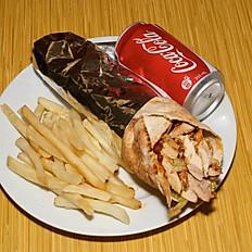 Beef Doner, Fries &Pop Combo