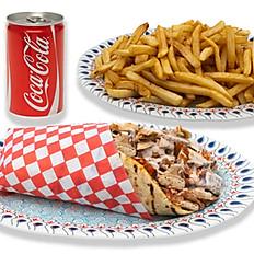 Chicken Shawarma, Fries & Pop Combo