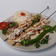 Chicken Breast Shish Kebab Plate