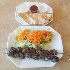 Lamb Shish Kebab Salad