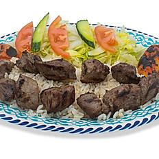Lamb Shish Kebab Plate