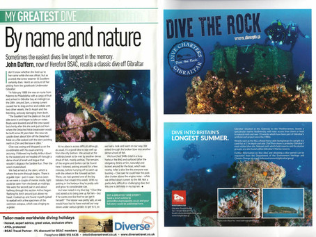 My Photos on the SCUBA Magazine - UK!