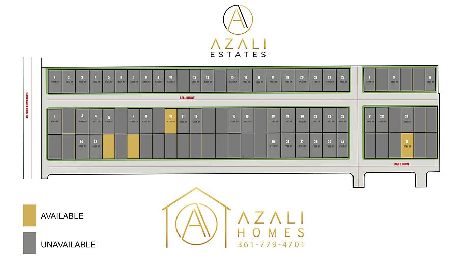 Lot Availability - Azali Estates AUGUST.png