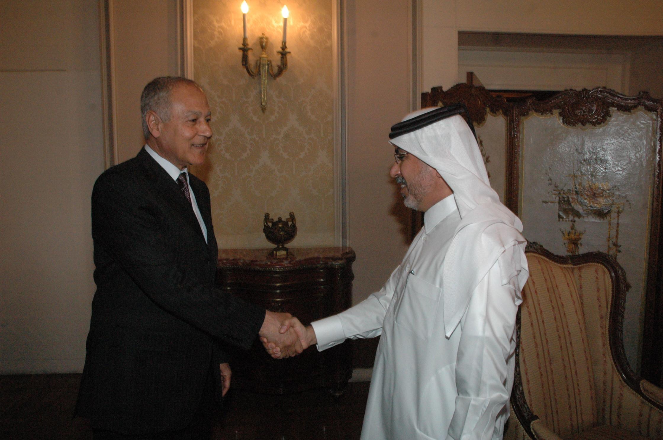 لقاء مع السيد أحمد أبو الغيط