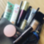 My ever evolving makeup bag...several fi