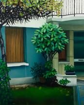 urbanités 34, huile sur toile,  22 x 26 cm, 2020