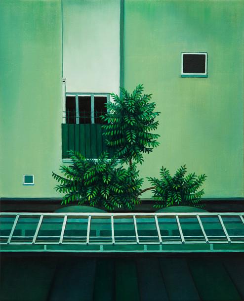 urbanités - 26, huile sur toile, 38,5 x 47 cm, 2019