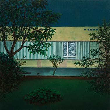 urbanités - 15, huile sur bois, 30 x 30 cm, 2017
