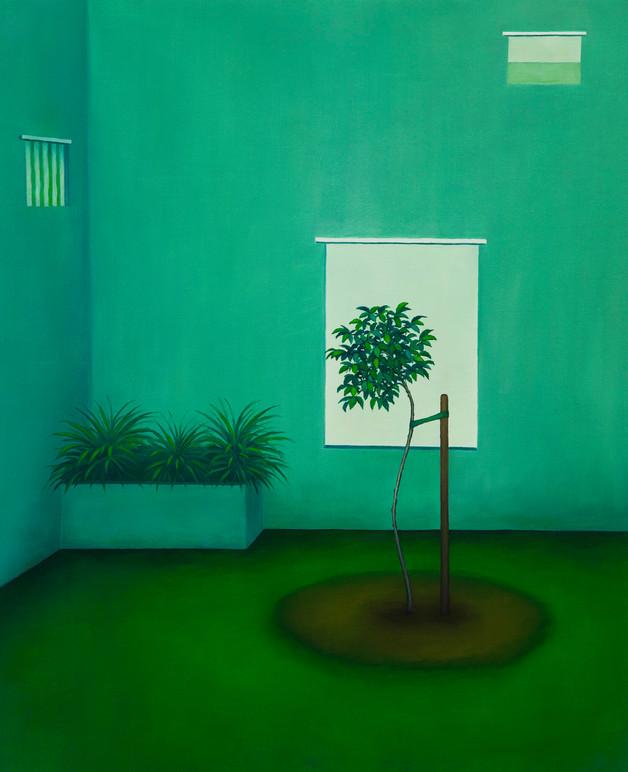 urbanités 30, huile sur toile, 60 x 73 cm, 2019