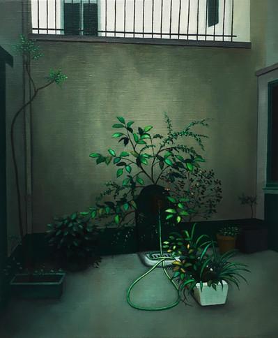 urbanités - 25, huile sur toile, 38 x 46 cm, 2019