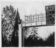 les images grisées - 05, crayon sur papier toile, 13 x 15 cm, 2015. Collection particulière.