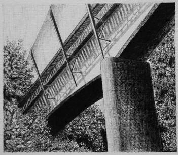 les images grisées - 19, crayon sur papier toile, 13 x 15 cm, 2015. Collection particulière.