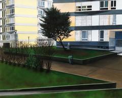 les lignes silencieuses -04, huile sur papier, 45 x 55 cm, 2015