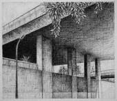 les images grisées - 22, crayon sur papier toile, 13 x 15 cm, 2016
