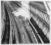les images grisées - 10, crayon sur papier toile, 13 x 15 cm, 2015