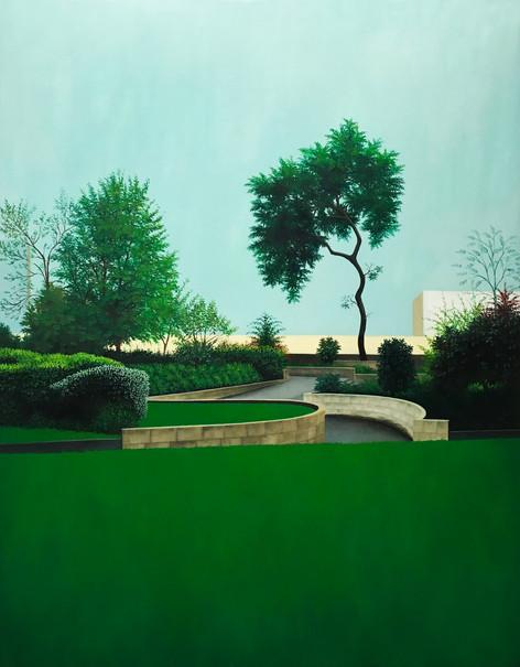 sans titre, huile sur toile, 114 x 145 cm, 2018