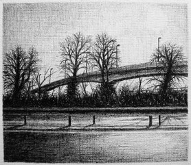 les images grisées - 29, crayon sur papier toile, 13 x 15 cm, 2016. Collection particulière.