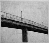 les images grisées - 16, crayon sur papier toile, 13 x 15 cm, 2015. Collection particulière.