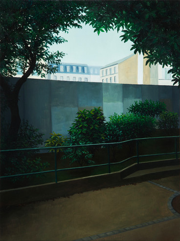 urbanités - 20, huile sur bois, 30 x 40 cm, 2018