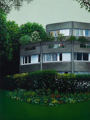 urbanités - 21, huile sur bois, 30 x 40 cm, 2018