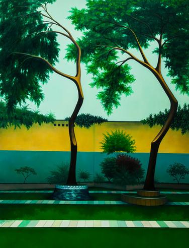 nous danserons un jour ensemble, huile sur toile, 115 x 146 cm, 2019