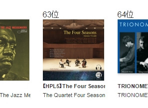 2015年 e-onkyo music 年間ランキング63位「【HPL5】The Four Seasons -Antonio Vivaldi」