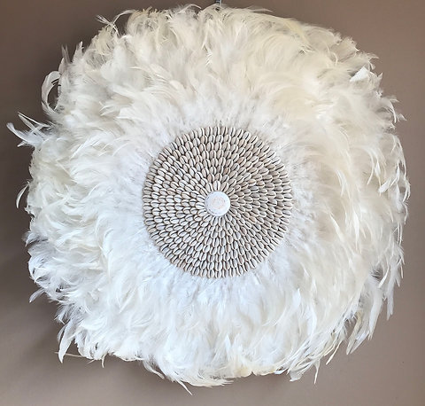 Feather Cowrie Shells Wall Decor