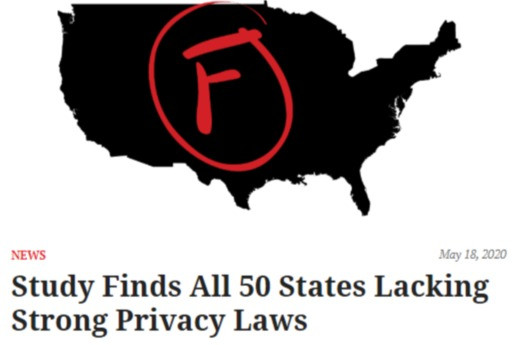 Study Finds All 50 States Lacking Strong Privacy Laws