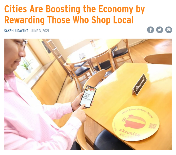Cities Are Boosting the Economy by Rewarding Those Who Shop Local