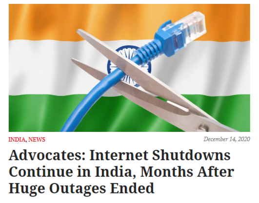Advocates: Internet Shutdowns Continue in India, Months After Huge Outages Ended