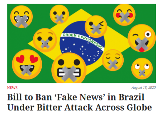 Bill to Ban 'Fake News' in Brazil Under Bitter Attack Across Globe