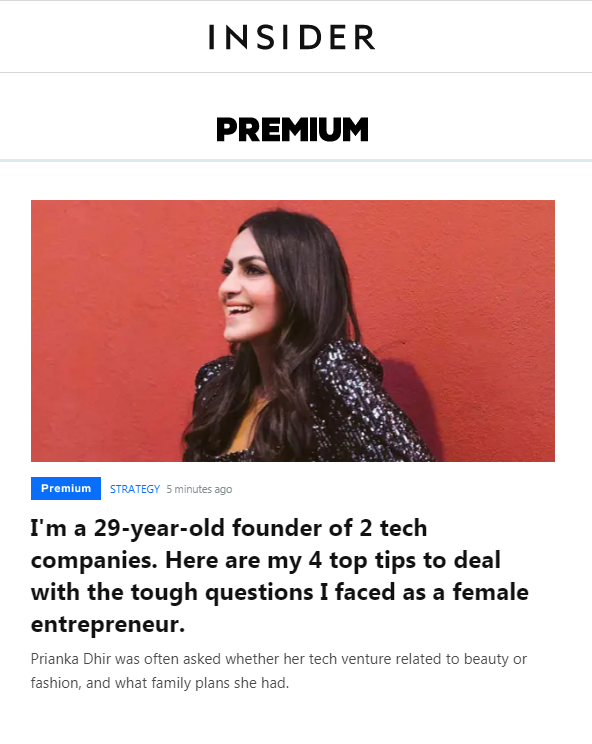 A 29-year-old founder of 2 tech companies shares her 4 top tips to deal with the tough questions she faced as a female entrepreneur