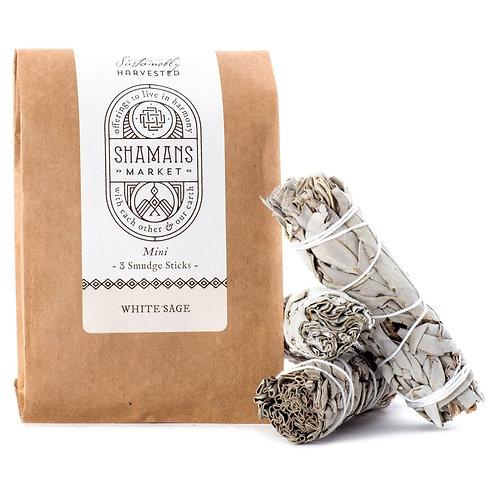 White Sage Mini Smudge Sticks x3 Pack