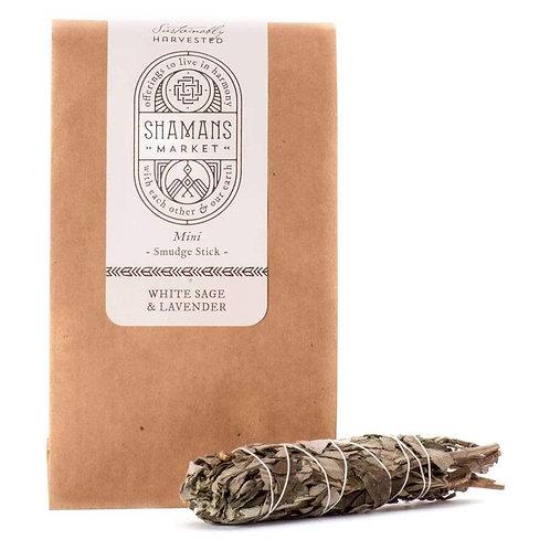 White Sage & Lavender Smudge Stick (4 inch)