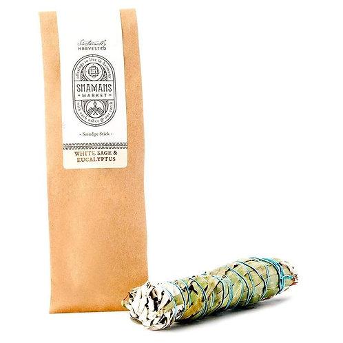 White Sage & Eucalyptus Smudge Stick (8.5 inch)