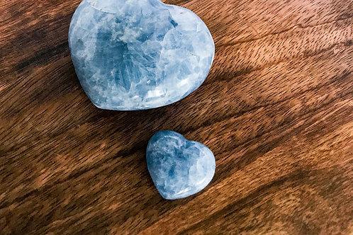 Blue Calcite Mini Heart