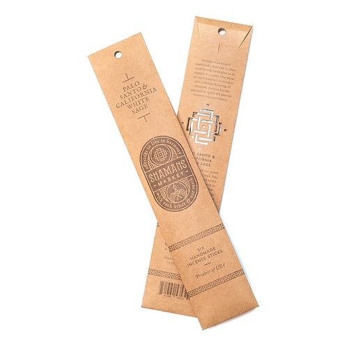Artisan Palo Santo and California White Sage Incense Sticks