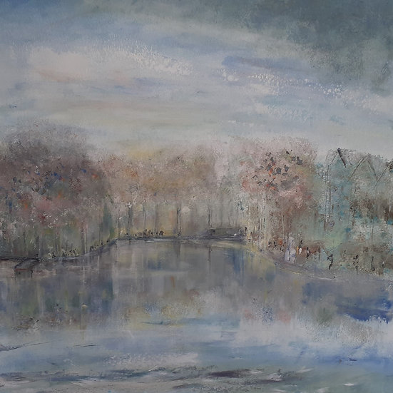 'Walk By the Water' Original Painting