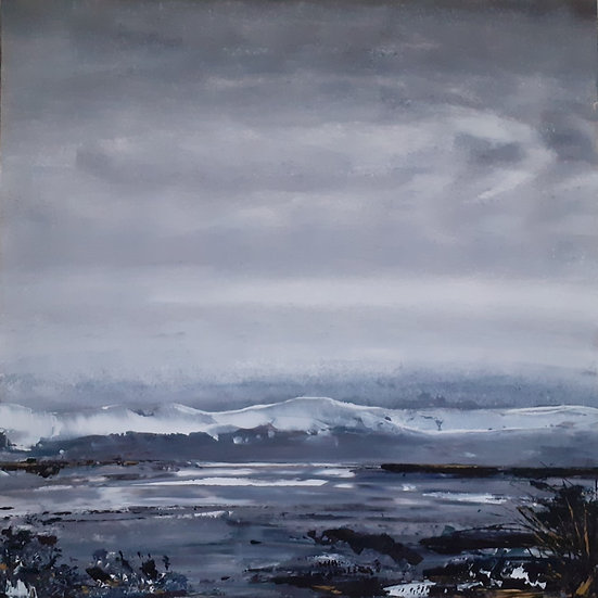 'Snow on the Mountains' Original Painting