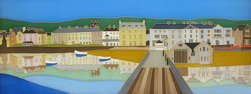 'Beaumaris Reflection from the Pier' Print of original silk painting