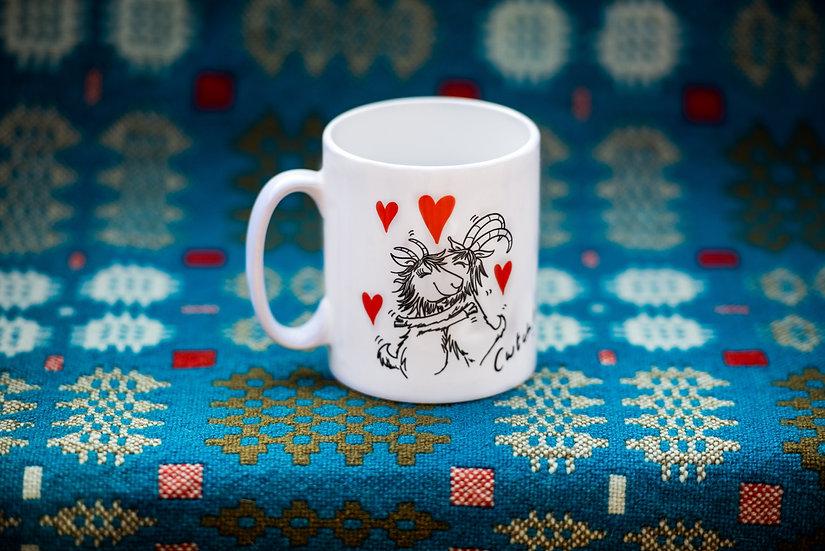 Goats of Llandudno 'Cwtch' mug