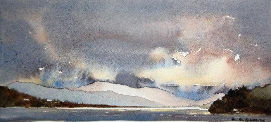 'Morning Light, Bala Lake' Limited Edition Mounted Print