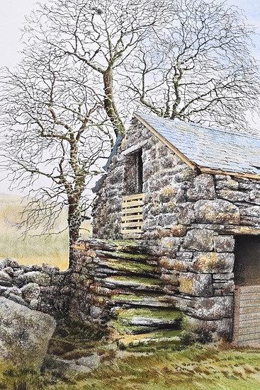 'Farm Outbuilding' , Amnodd Bwll in Snowdonia Limited Edition Giclee Print