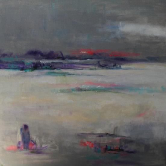 'Watching' Original Acrylic Painting