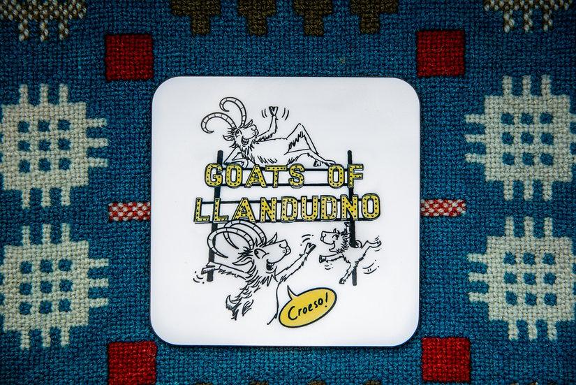Goats of Llandudno 'Croeso' Coaster