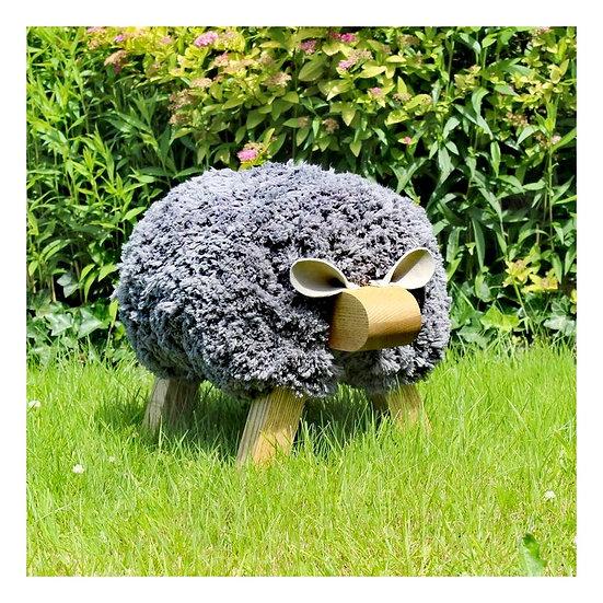 Gwynedd Grey Sheep Footstool