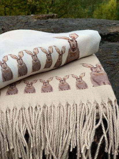 Hand Designed Cashmere Blend Scarf (15% Cashmere)