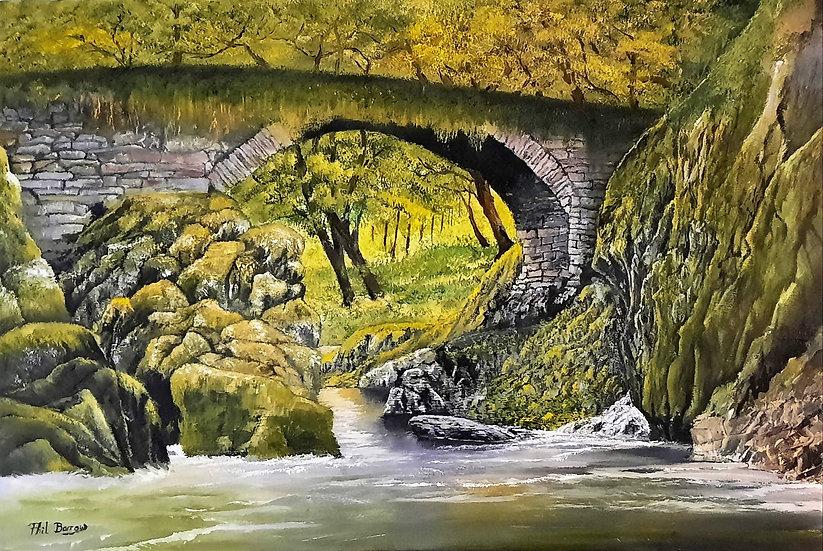 'The Roman Bridge' Signed Print