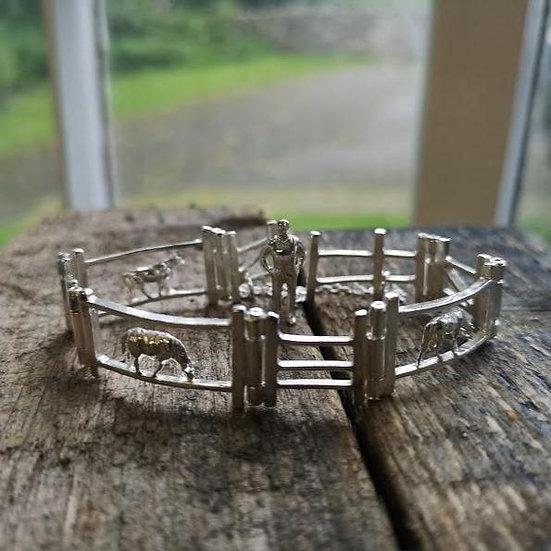 Farmyard Silver Gate Bracelet