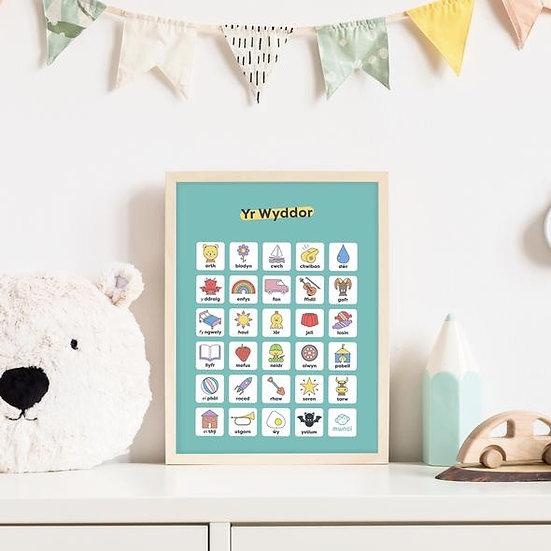 Welsh Alphabet Poster Print